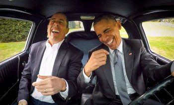 Jerry Seinfield y Barack Obama en <i>Comediasn in cars getting coffee</i>