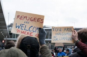 Hubo protestas frente a aeropuertos estadounidenses