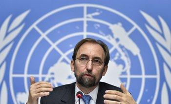 El alto comisionado para Derechos Humanos de la ONU, Zeid Ra