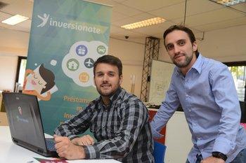 <b>Germán Ayala y Dani Vianna en el Centro de Innovación y Emprendimientos de ORT. </b>D.BATTISTE