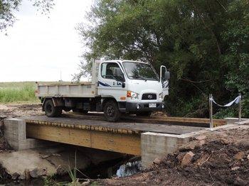 El proyecto del puente sobre el arroyo Las Brujas fue financiado por el fondo FPTA 2012-INIA.