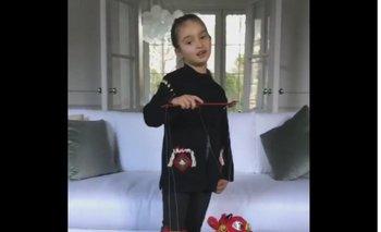 La nieta de Trump, Arabaella Kushner, en un video publicado por su madre Ivanka