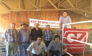 Integrantes de las cabañas y del escritorio Zambrano & Cía en el remate