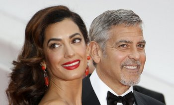 George Clooney y Amal Clooney durante el 69 Festival de Cannes en mayo de 2016