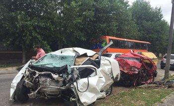 Los restos de los vehículos accidentados fueron trasladados a la Seccional Policial de Libertad.<br>