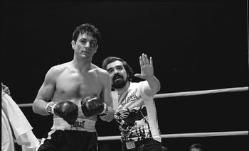 Robert De Niro y Martin Scorsese en la filmación de <i>Toro Salvaje</i>.