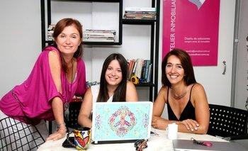 Lercy Saavedra junto a Silvina Saavedra y Karina Olhaberriet<br>