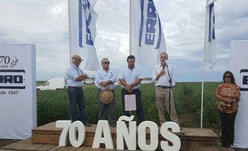 Ramón Erro, Germán Lasarte, Felipe López y Jorge Erro en el inicio de la jornada en La Media Lucha