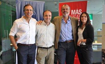 Enrique Baliño, Gonzalo Noya, Diego Kenny y Carla Salamano