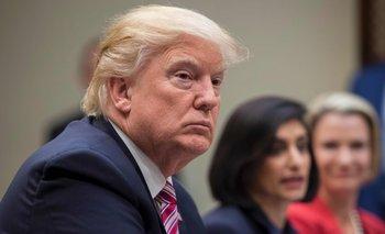 Trump, ayer durante un panel sobre Mujer y Salud, en Washington DC.