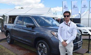 Félix Pereira con la segunda generación de la pick-up Ridgeline