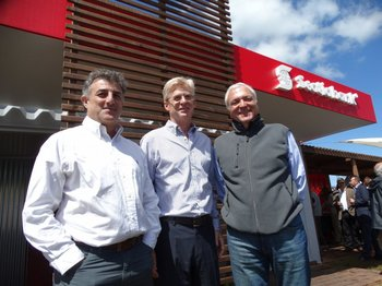 Alberto Noria, Horacio Correge y Alejandro Suzacq.