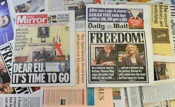 <div>Los tabloides y diarios sensacionalistas festejaron la medida activada hoy por May</div>