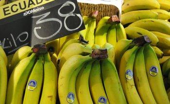 La única fruta con incremento de precio reciente es la banana.