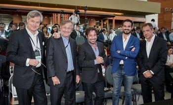 <b>Gunter Pauli, Cristiano Rattazzi, Ricky Sarkany, Andrés Contreras y Daniel Hadad</b>
