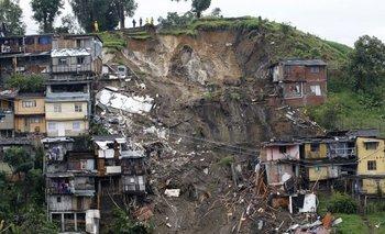 <p>Vista general después de los deslizamientos de tierra en Manizales, Colombia</p>