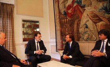 Lacalle Pou con Mariano Rajoy