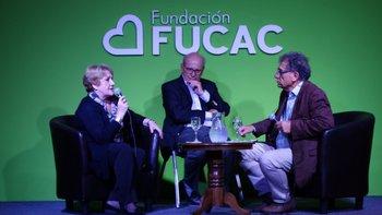 Myriam Managau y David Mardero en charla moderada por Roberto Matta.