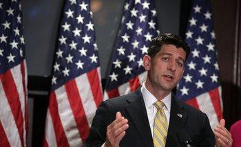 Paul Ryan, hoy miércoles, en la conferencia de prensa del Partido Republicano