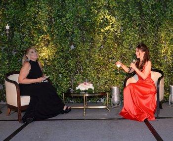 Elena Tejeira entrevistó a Natalia Oreiro durante la cena de gala de cierre del congreso<br>