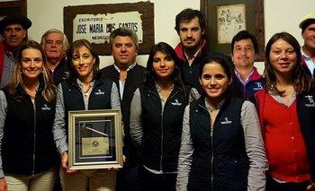Federico Rodríguez, Victoria Larregui y demás integrantes del equipo del escritorio<br>