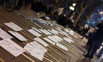 Movilización por femicidios. Foto de archivo.