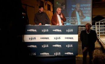 Carlos Fernández y Luis Fernández, de La Rubeta y Frigorífico Modelo, dieron la bienvenida<br>