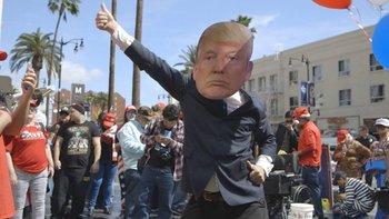 Sosa participó en diferentes manifestaciones a favor y en contra de Trump <br>