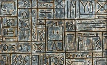 <i>Constructivo</i>, un óleo sobre cartón del pintor uruguayo  Francisco Matto<br>