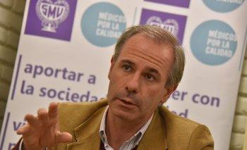 Presidente del Sindicato Médico, Gustavo Grecco