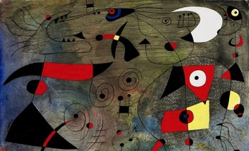<i>Femme et oiseaux</i>, del pintor catalán Joan Miró<br>