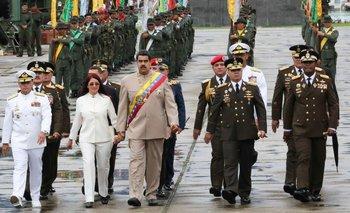 Nicolás Maduro durante un desfile militar en Caracas, el sábado pasado.