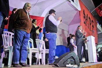 Mujica, Sánchez y el ex presidente de Ecuador, Rafael Correa, fueron los oradores de la apertura del X Congreso del MPP