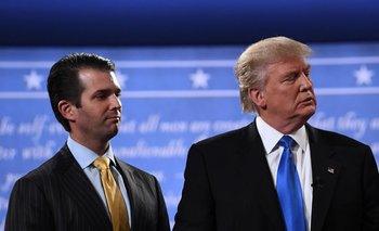 Donald Trump hijo y padre, en septiembre de 2016