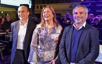 Daniel Martinez, María Elisa Areán y Oscar Curuchet