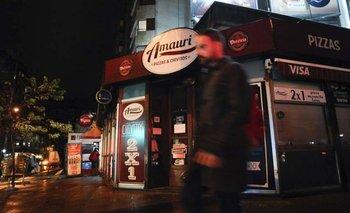 La pizzería Amauri fue asaltada el lunes por la madrugada y un policía fue asesinado. L.Carreño