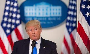 Trump habla durante el encuentro final de la Comisión Consejera Presidencial sobre Integridad Electoral en el edificio Eisenhower, en Washington DC, el pasado 19 de julio..