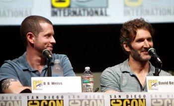 D.B. Weiss y David Benioff en la convención Comic-Con<br>