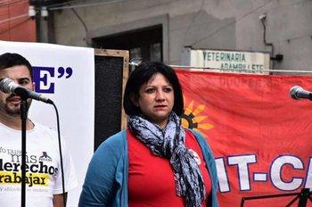 Laura Rivero, presidenta suspendida del sindicato de domésticas