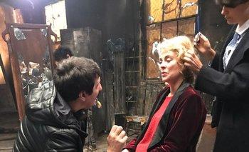 La actriz española Belén Rueda en plena preparación para el rodaje