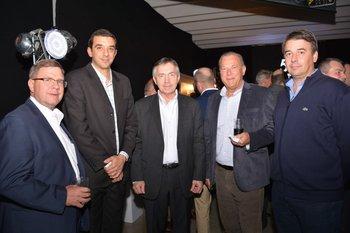 James Field, Agustin Lopez, Bernard Haas, Haroldo y Daniel Ensslin
