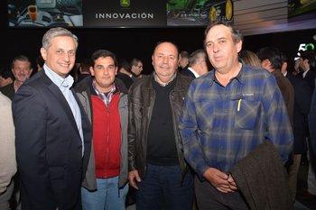Alejandro Sayago, Alejandro Costa, Jorge Martinez y Gregorio Iraola