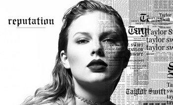 Taylor Swift en parte de la portada de <i>Reputation</i><br>