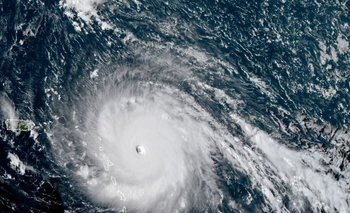 El huracán Irma en una foto satelital.