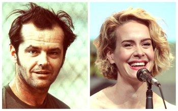 Jack Nicholson en <i>Atrapado sin salid</i>a y Sarah Paulson<br>