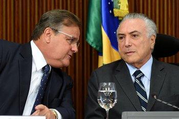 Geddel Vieira Lima y Michel Temer
