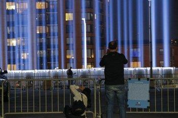 Tributo luminoso a las torres gemelas