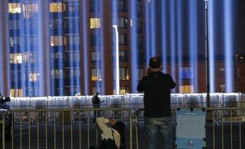 Foto de archivo. Tributo luminoso en homenaje a las víctimas de los ataques a las Torres Gemelas