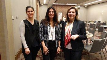 María Vázquez, Carolina Bellenda y Valerie Schuhl<br>