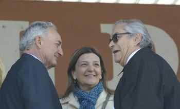 El presidente de ARU, Pablo Zerbino, junto a Enzo Benech en la Expo Prado 2017